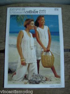 Raisonnable Wendy Dk * Mère & Fille Tops Knitting Pattern 3752-afficher Le Titre D'origine