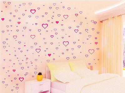 191pcs Heart Flower Wall Decals Removable Sticker Kids Art Nursery Baby Decor