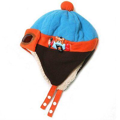Hot Winter Baby Toddlers Girls Boys Kids Pilot Aviator Cap Warm Soft Beanie Hat
