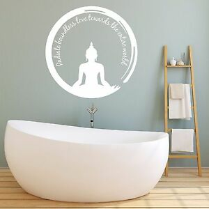Image Is Loading Buddha Wall Sticker Love Decal Meditation Vinyl Positivity