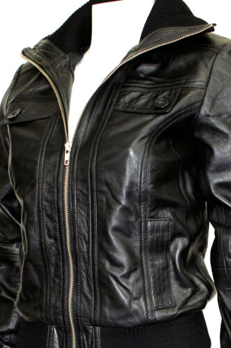 Jennifer Black Ladies Women Fashion Designer Soft Lambskin Napa Leather Jacket