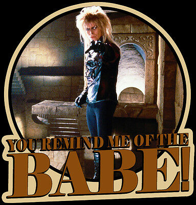 "80s Jim Henson Classic Labyrinth Jareth Goblin King ""The Babe""custom tee AnySize"