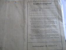 Brief Oldtimer 1962 Ford 17m P3 17 m p 3 55 PS 55PS  Datenblatt EL