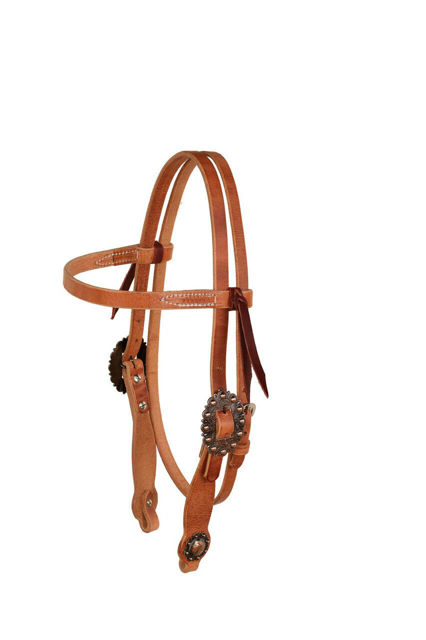 Berlin Cowboy Culture Big Copper Brow Headstall, Heavy Oil