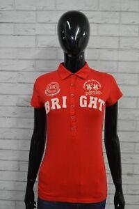 Maglia-Polo-Donna-Maglietta-LA-MARTINA-Taglia-Size-M-Shirt-Manica-Corta-Rosso