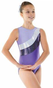 Purple Lycra//Sparkly Foil Girls Gymnastics Leotard Gym Dancewear Ages 4-12 Gym18