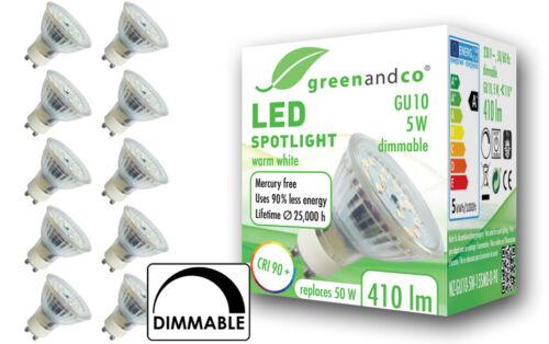 variateur flimmerfrei gu10 5 W remplace 50 W 410 lm blanc chaud projecteur DEL Spot cri90