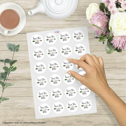 24 Stickers Save the Date Stickers Labels Wedding Packaging Vintage Classy