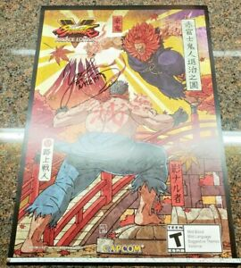 Street-Fighter-V-Arcade-Edition-Akuma-Kage-Poster-Signed-Yoshinori-Ono-Gouki