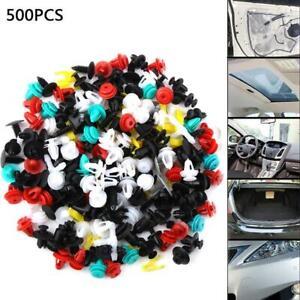 500PCS-auto-voiture-mixte-Fastener-Clip-pare-chocs-Fender-Trim-Plastique-Rivet-Panneau-de-porte