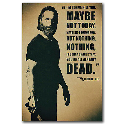 The Walking Dead Rick Grimes Art Hot 12x18 24x36in FABRIC Poster N3288