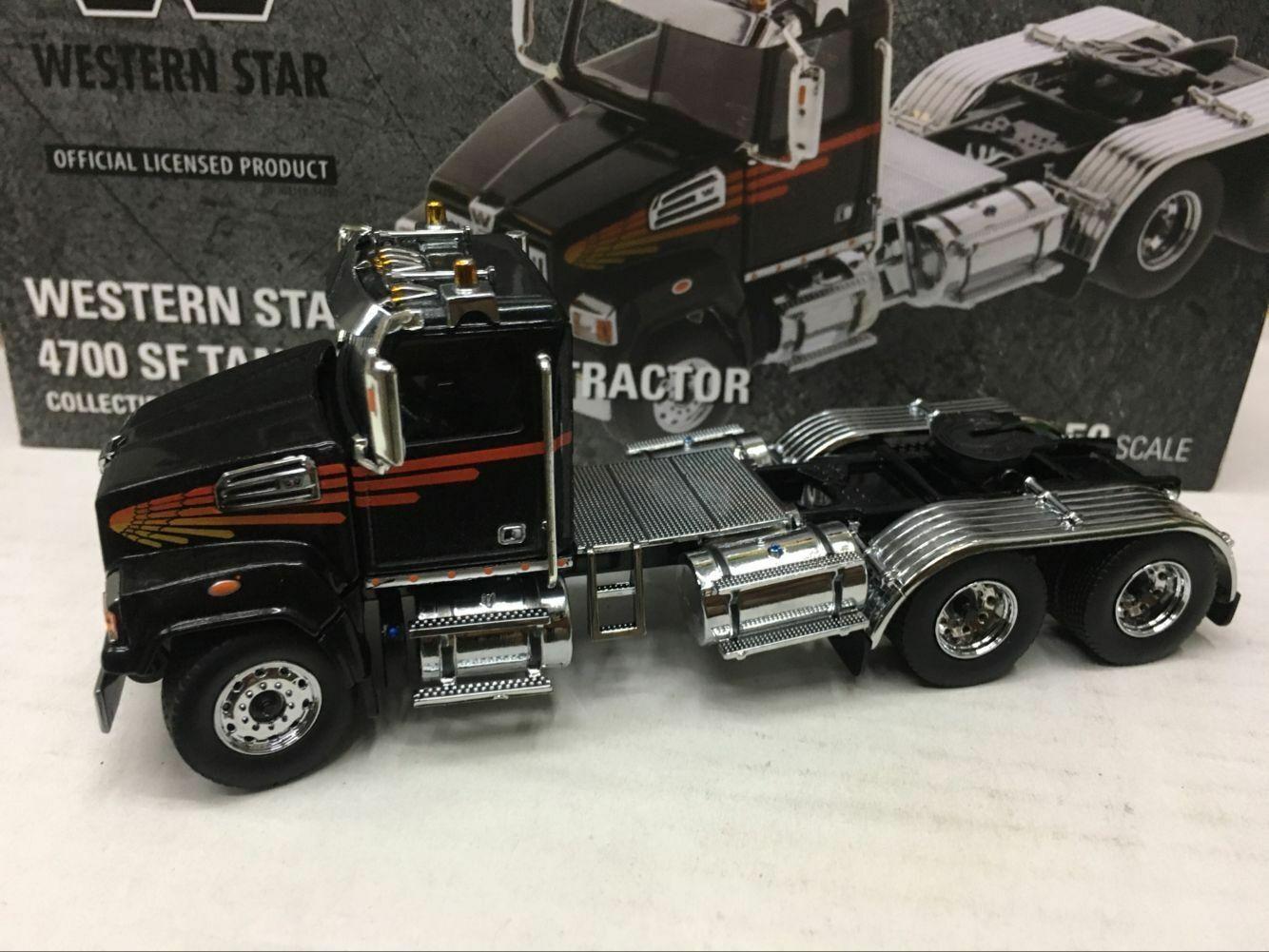 Western Star 4700 ciencia ficción en tándem Camión-Tractor Escala 1 50 Diecast de maestros DM71036