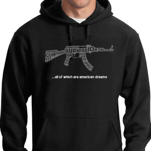 Know-Your-Enemy-Hoodie-RAGE-AGAINST-THE-MACHINE-TRUMP-RATM-QUOTE-POLITICS-AK47