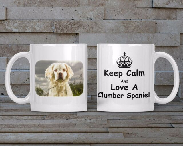 AD-CS1SC Clumber Spaniel Dog Single Leather Photo Coaster Animal Breed Gift