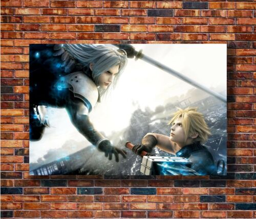 Art Final Fantasy XV Game Sephiroth vs Cloud FF 24x36in Poster Hot Gift C911