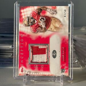 2015 Topps Inception Rookie Red 43/50 Mike Davis #RP-MD Two Color Patch