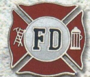 Firefighter Hat Pin Fire Dept Jacket Tack Rescue 911