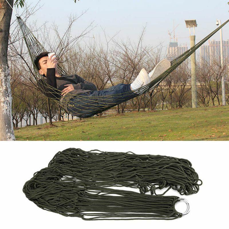 Portable Garden Hammock Mesh Net Rope Camping Outdoor Bed Nice Swing CL
