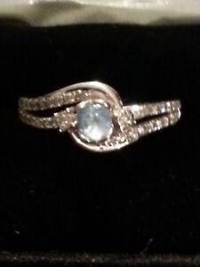 White Gold Bridal Set Women S Kay Jewelers 10kt Blue Topaz Rings