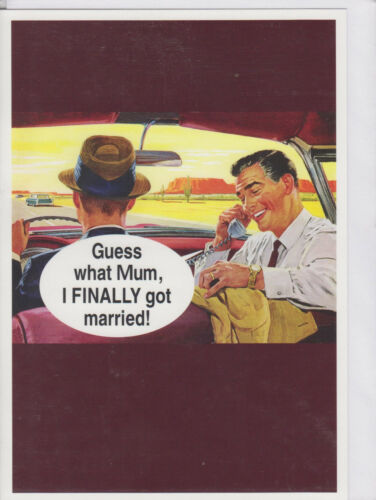 Funny Humour Anniversaire Card-HMB ~ Free p/&p Guess What mère I des..