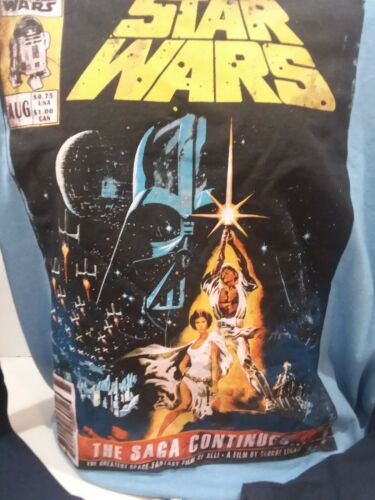Star Wars The Saga Continues Licensed Adult T Shirt Long Sleeve XL or 2XL Men/'s