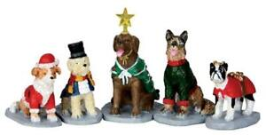 Lemax ~ Village Figurine / Accessory ~ COSTUMED CANINES SET OF 5