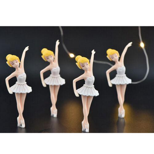 DIY Miniature Fairy Garden Ornament Decor Pot Craft Ballerina girl Accesso Hs