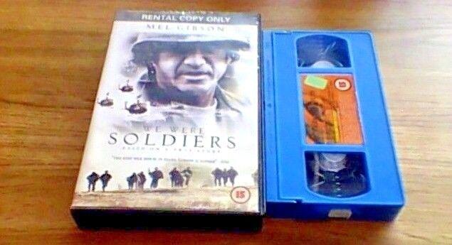 WE WERE SOLDIERS UK PAL VHS BIG BOX VIDEO 2002 Mel Gibson Sam Elliott Vietnam