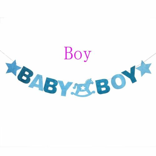 2.88m Paper Garland Birthday Bunting Banner Baby Boy Baby Girl Party Flag