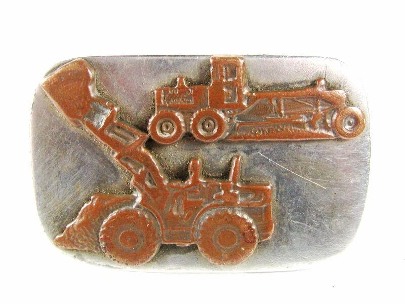 1930's - 50's Konstruktion Equipment Bulle Dozer Gürtelschnalle ohne Marke 31616
