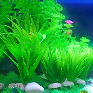 aquarium fish tank plastic water grass plants decoration ornament