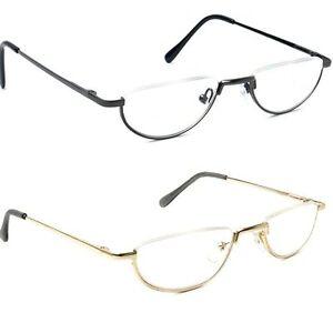Vintage Spring Hinge Half Moon Eyeglass Frames Reading ...