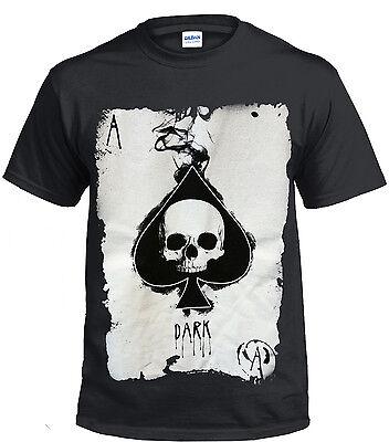 Card Suits Poker Charcoal Gray T-Shirt Tshirt Shirt Tee