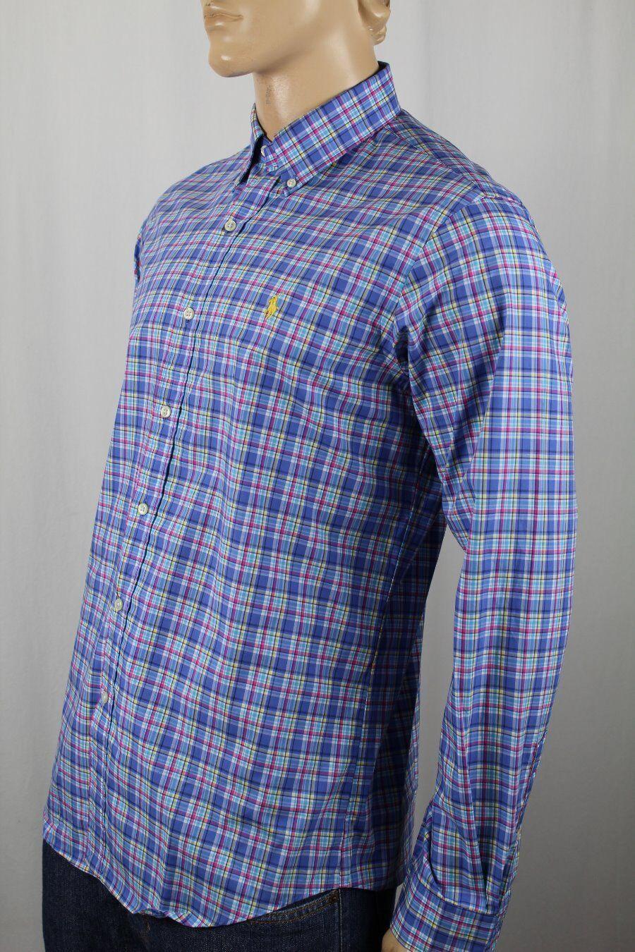 Ralph Lauren bluee Plaid Button Down Classic Fit Dress Shirt NWT
