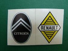 N°3 A & B CITROËN - RENAULT PANINI 1972 HISTOIRE DE L'AUTOMOBILE