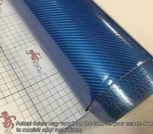 5D-Gloss-Ultra-Shining-BLUE-1520mm-x-300mm-Carbon-Fibre-Vinyl-Wrap-Sticker-Sale