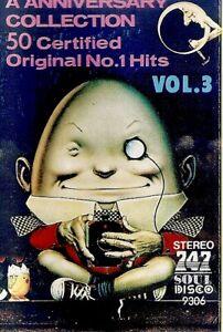 Various-Artists-50-Certified-Original-No-1-Hits-Vol-3-Import-Cassette-Tape