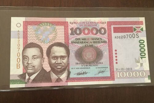 Burundi 10,000 francs 2013 P-49/> UNC