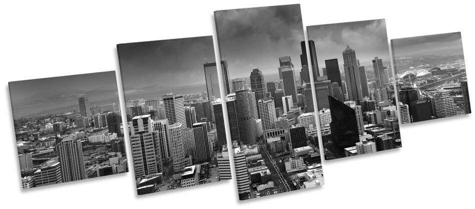 Seattle horizonte de la ciudad pared Washington múltiples LONA pared ciudad arte Foto Marco De Caja bedcd4