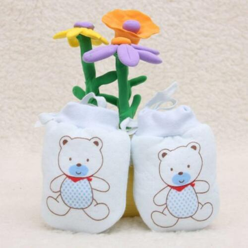 1Pairs Cute Infant Baby Boys Girls Gloves Anti Scratch Mittens Soft Rope Gloves