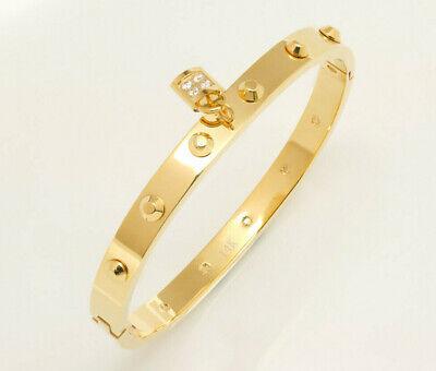 "14k Rose Gold Finish Unique 0.25ct Diamond Bangle Bracelet 7.25/"""