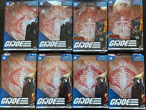GI Joe Classified 8 Empty Box Lot Cobra Island Viper Target Infantry Red Ninja