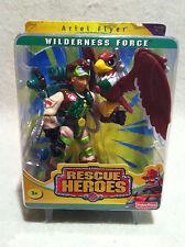 Rescue Heroes Wilderness Force Ariel Flyer & Hawk Pilot & Vet Factory Sealed!