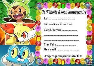 Beliebt 5 cartes invitation anniversaire Pokemon X & Y 024 d'autres  UR37