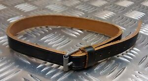 Genuine German Army Black Leather Strap Billy Can / Utility Vintage