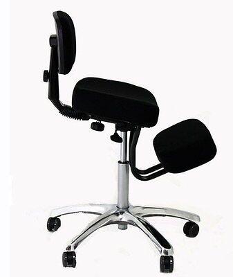 Sgabello posturale cromato bacino poggiaginocchia sedia ergonomica poltrona | eBay