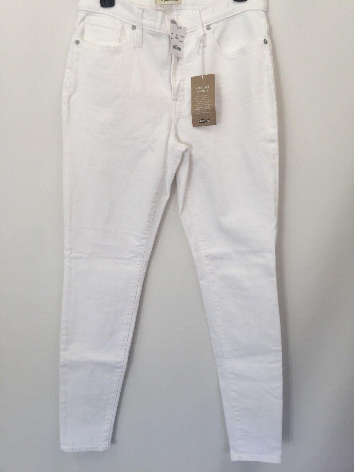 "Madewell Tall 9"" Jean Filiforme Größe Haute Weiß Pur Größe 30 T H5876  128"