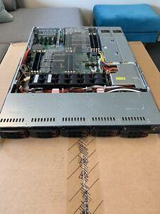 "Supermicro Dual E5-2640 CPU's 128Gb RAM 10x 2.5"" Bay 1U chassis CSE116"