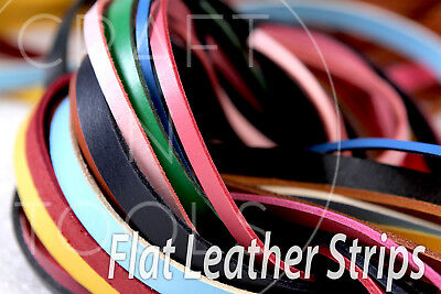 Bracelet Cord Leather Strip Natural Cord Leather Cord Flat Nautic 3.5x3.0mm