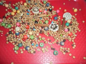 200G-OF-RECYCLED-WOODEN-BEADS-CRAFTS-EMBELLISHMENTS